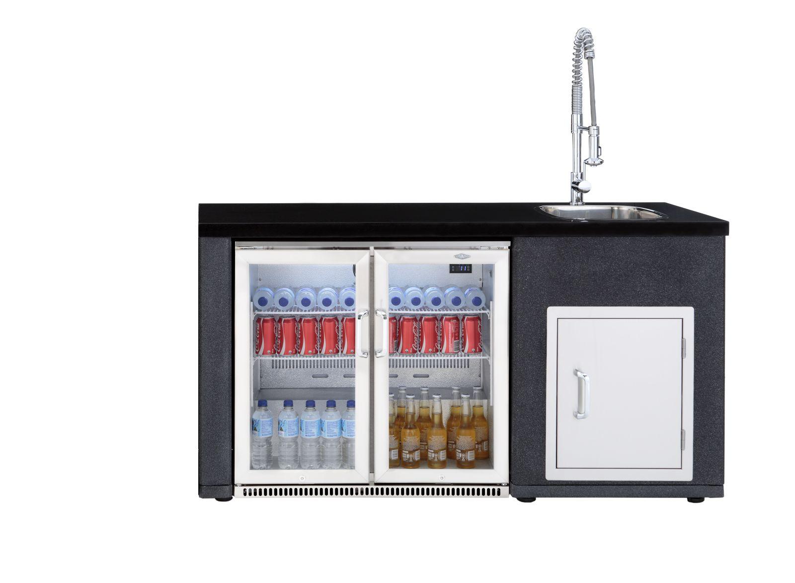 Outdoorküche Tür Preis : Outdoorküche artisan spülmodul mit kühlschrank & tür für den
